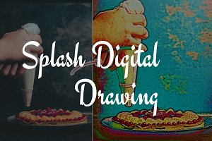 Splash Digital Drawing