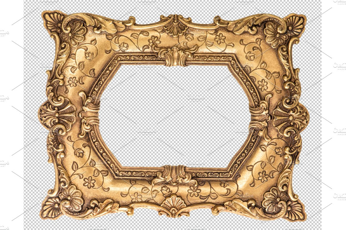 Baroque golden frame PNG ~ Objects ~ Creative Market