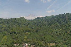 Mountain landscape Jawa island