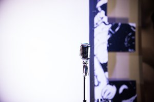 A old style retro microphone