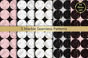 Marble Seamless Pattern Set