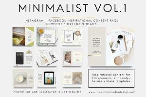 MINIMALIST CONTENT PACK Vol. 1