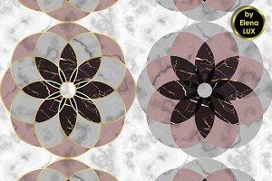 2 Marble Mosaic Seamless Patterns