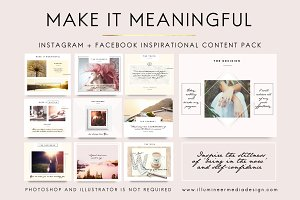 MAKE IT MEANINGFUL Social Media Pack