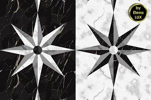 Marble Star Seamless Pattern