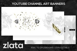 ZLATA Youtube Channel Art Banners