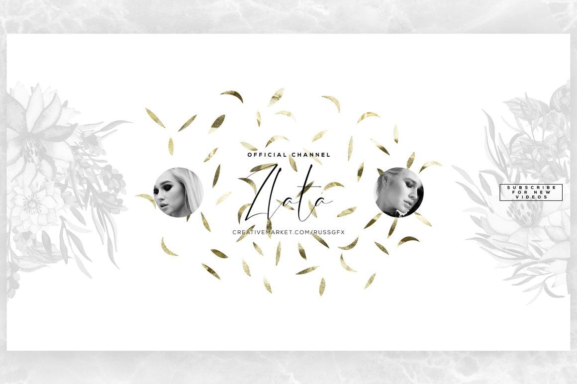 ZLATA Youtube Channel Art Banners