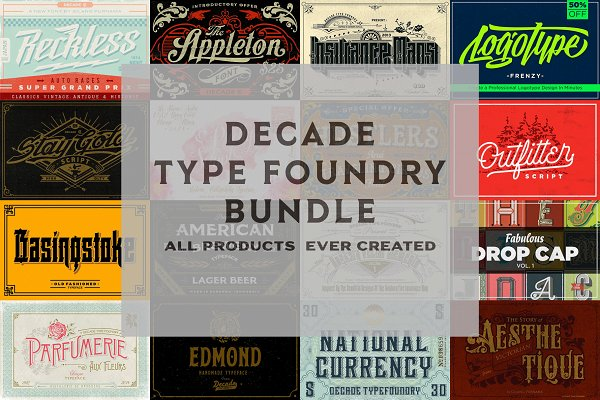 Decade Type Foundry Store Bundle