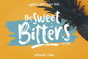 Sweet Bitters Fonts + EXTRAS!