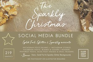 HUGE SPARKLY CHRISTMAS MEDIA SET