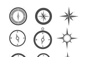Navigation Compasses set