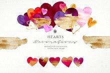 Hearts - watercolor illustrations