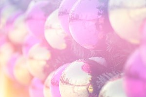 New year holiday sphere decorations