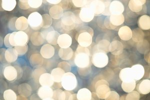 Dramatic golden bokeh background