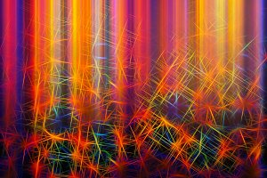 Colorful maze of lines illustration