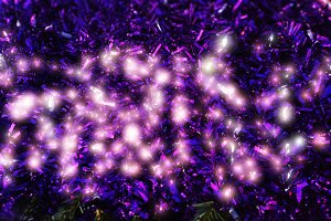 Purple glowing new year decorations
