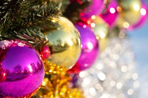 New year holiday ball decorations bo
