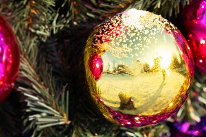 New year holiday ball decorations ba