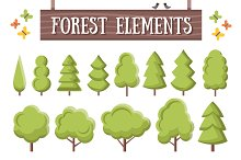 Flat Forest Elements