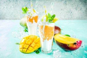 Tropical mango milkshake