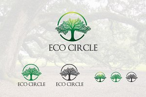 Circle Tree Nature Ecology Logo
