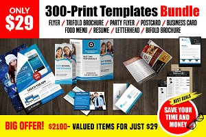 300-Print Templates bundle