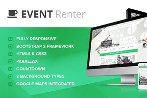 Event Renter - Responsive Countdown