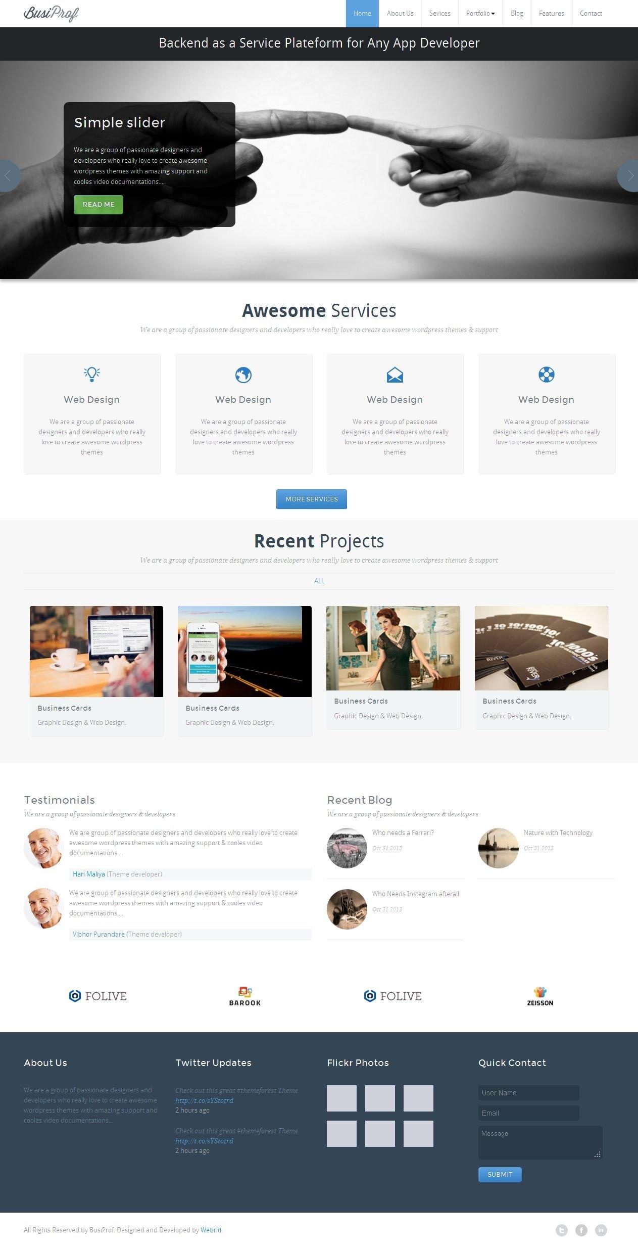 Busiprof Premium WordPress Theme ~ WordPress Business Themes ...