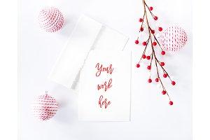 Christmas Card Mockup 25