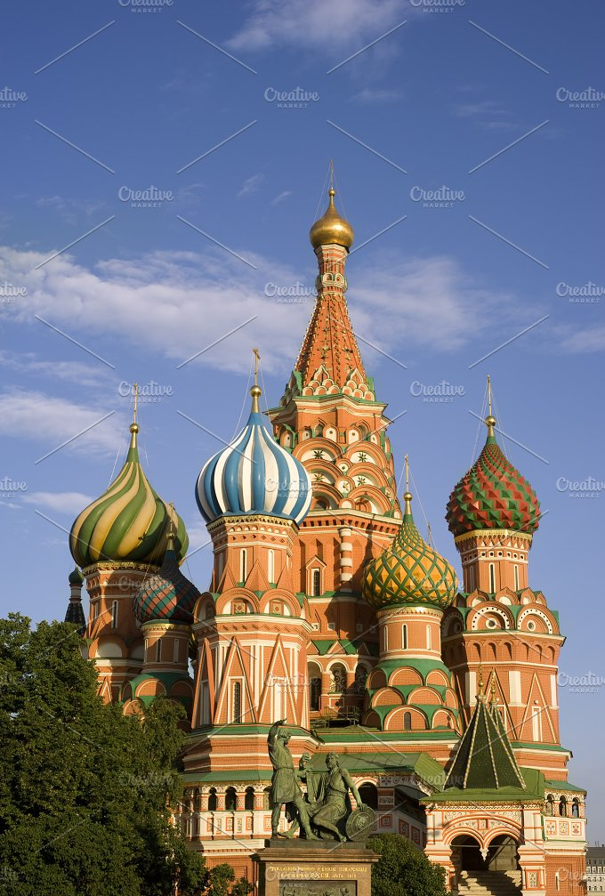 Saint Basil's cathedral. Russia - Architecture