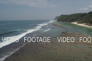 Seascape with beach