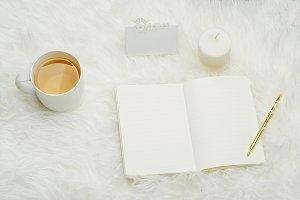 White Stock Photo, Cup Of Tea, Pen