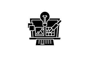Project design black icon, vector