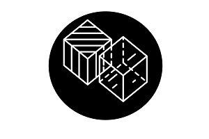 Business transformation black icon
