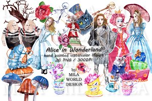 Alice in Wonderland Watercolor Set