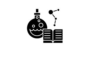 Science black icon, vector sign on