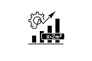 Mathematics formula black icon