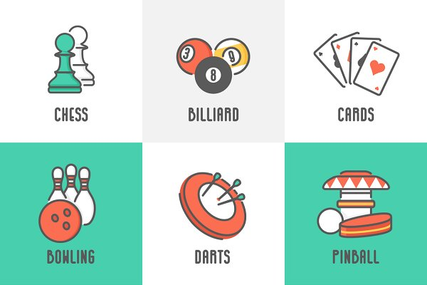 9 Casino and Leisure Games Icons