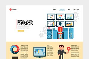 Infographic design landing page