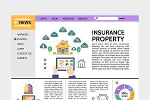 Property insurance service page