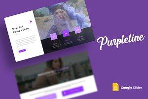 Purpleline - Google Slides Template