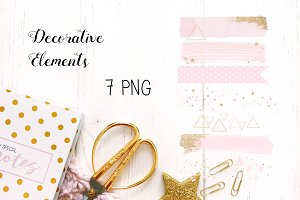 Pink Decorative Elements