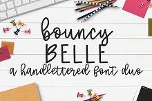 Bouncy Belle Hand lettered Font