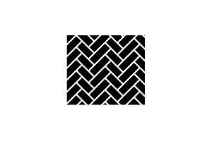 Parquet black icon, vector sign on
