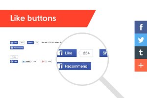 Like, Share and other social buttons