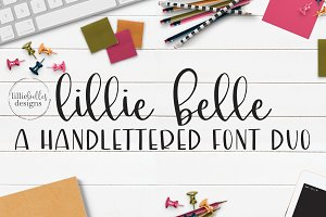 lillie belle hand lettered font