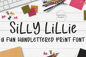 Silly Lillie:A fun handlettered font