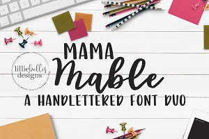 Mama Mable Handlettered Fonts