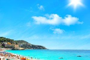 Tourists, sea and sky. Holidays