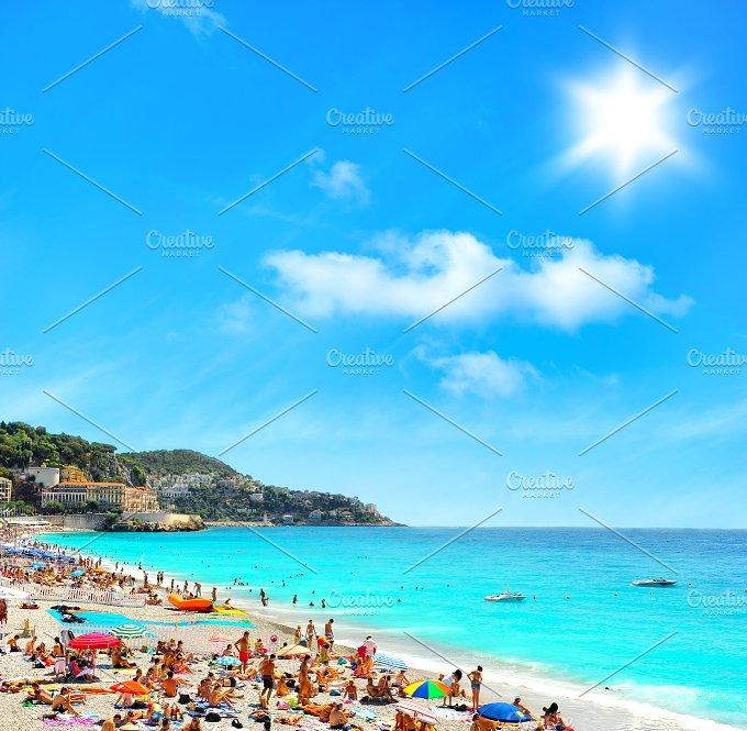 Tourists, sea and sky. Holidays - Holidays